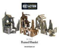 Bolt Action - Ruined Hamlet (3x buildings)