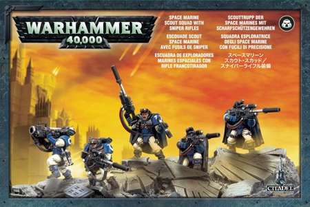 Space Marine Scout Squad With Sniper Rifles