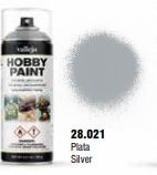 Vallejo Hobby Paint Silver Spray 400ml.