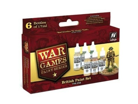 Zestaw WWII Wargames - British Paint Set